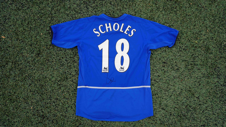 311200689402 PAUL SCHOLES Signeret Manchester United-trøje - Dear Football