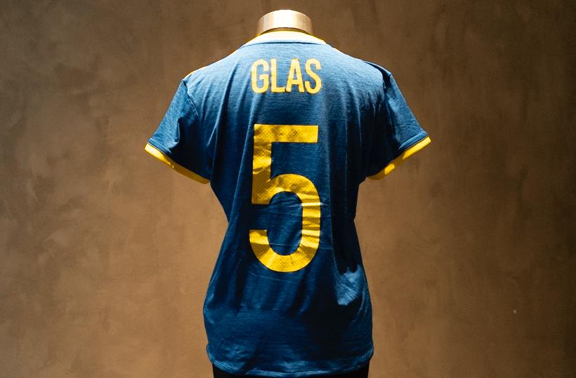 Hanna Glas  Matchworn & Signeret Sverige-trøje